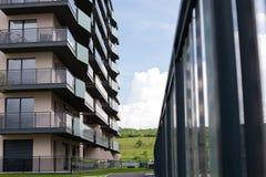 新的住宅区在布拉索夫,罗马尼亚 免版税图库摄影