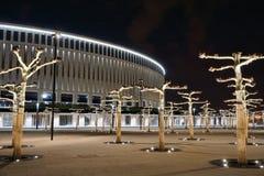 新的体育场fckrasnodar在晚上 库存照片
