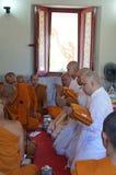 新的佛教修士6月29日 免版税库存照片