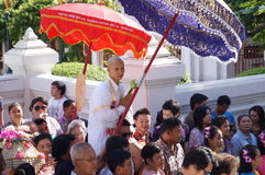 新的佛教修士6月29日 免版税库存图片