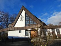 新的使徒教会在Silute,立陶宛 图库摄影