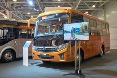 新的俄国公共汽车 图库摄影