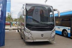 新的俄国公共汽车 免版税库存图片