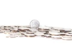 新的俄罗斯卢布硬币 图库摄影