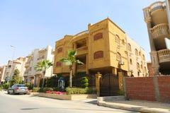 新的公寓住宅区 免版税库存图片