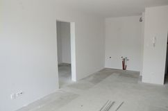 新的公寓在波兰 免版税库存图片