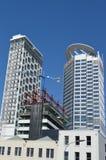 新的公寓在街市的奥克兰-新西兰 免版税库存图片
