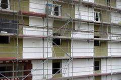 新的公寓的建筑工地 免版税库存图片