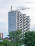 新的公寓的建筑 免版税库存图片