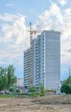 新的公寓的建筑 免版税库存照片