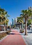新的公开海滩- Jumeirah与赞成一2 km的海滩住所JBR 图库摄影