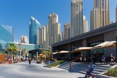 新的公开海滩- Jumeirah与2 km散步的海滩住所JBR 图库摄影