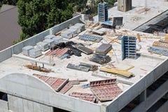 新的具体楼层建筑 免版税库存照片
