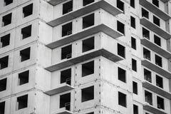 新的典型的生存房子建设中 免版税图库摄影