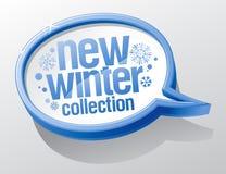 新的冬天收集演讲泡影。 免版税图库摄影