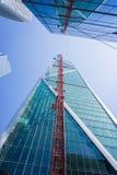 新的办公室和豪华公寓摩天大楼, 181佛瑞蒙,在市场区南部上升  免版税库存图片