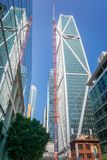 新的办公室和豪华公寓摩天大楼, 181佛瑞蒙,在身体区上升 库存图片