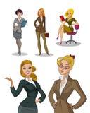 新的办公室工作者 2 business woman 妇女被设置 向量例证