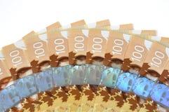 新的加拿大一百票据 免版税库存照片