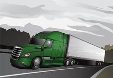 新的半Truck_Full-Lime 免版税库存图片