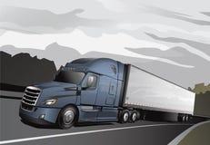 新的半Truck_Full-LtBlue 库存图片