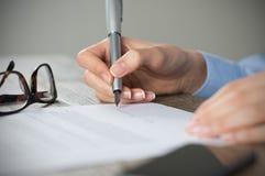 新的协议 免版税图库摄影