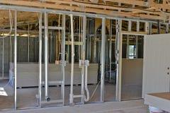 新的单户住宅内部 库存照片