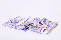 新的印地安货币笔记 库存图片