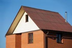 新的国家砖房子特写镜头 库存图片