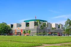 新的国民议会大厦全景视图,是一个公开大大厦 库存照片