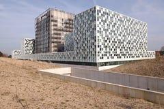 新的国际刑事法院海牙 库存照片