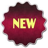新的圆的徽章 库存图片