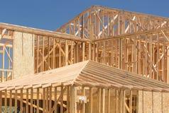 新的在建造场所的家构筑的摘要 库存图片