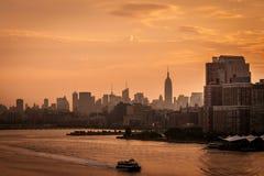 新的地平线日落约克 免版税图库摄影