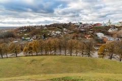 新的地球城市-弗拉基米尔的历史的中心在俄罗斯 库存图片