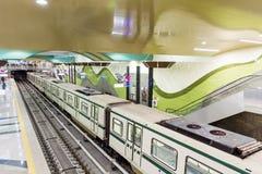 新的地铁车站在索非亚,保加利亚 免版税库存图片