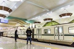 新的地铁车站在索非亚 免版税库存图片