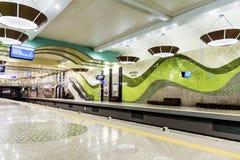 新的地铁车站在索非亚 库存照片