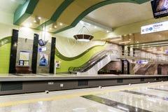 新的地铁车站在索非亚 免版税库存照片