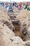 新的坟墓 免版税库存图片