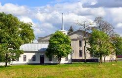 新的城堡在哥罗德诺 迟来的 免版税库存图片