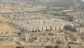 新的城市在印度增长 免版税库存照片