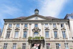 新的城镇厅在Esslingen上午内卡河,德国 免版税库存照片