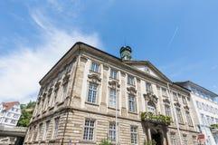 新的城镇厅在Esslingen上午内卡河,德国 库存照片