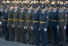 新的塞尔维亚人官员 图库摄影