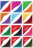 新的壁角Sticker_eps 图库摄影