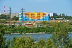 新的大厦在新西伯利亚,俄罗斯 库存图片