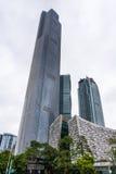 新的大厦在珠江广州新市镇  免版税库存图片
