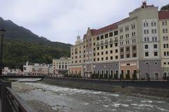 新的大厦在索契 免版税库存照片