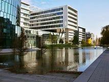 新的大厦在Wien 库存图片